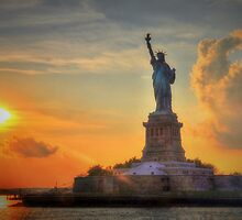 Liberty Sunset  by Poete100
