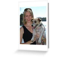 Me 'n' my dog Greeting Card