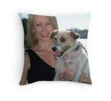 Me 'n' my dog Throw Pillow