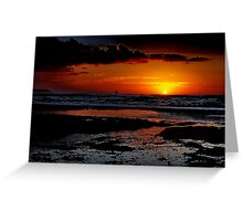 """Sunrise Surfer"" Greeting Card"