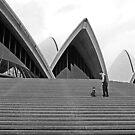 Up Sydney Opera House steps by wazzateh