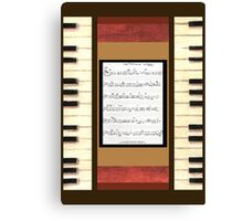 Piano keys with sheet music by Kristie Hubler Canvas Print