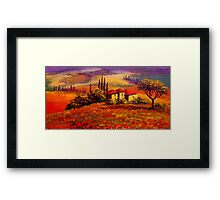 Tuscany Villa With a View Framed Print