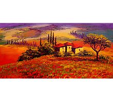 Tuscany Villa With a View Photographic Print