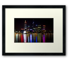 Perth by night Framed Print