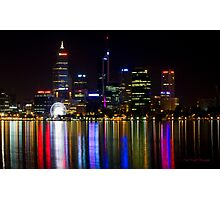Perth by night Photographic Print