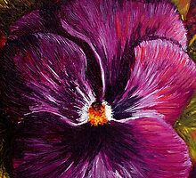 Purple Pansy by sesillie