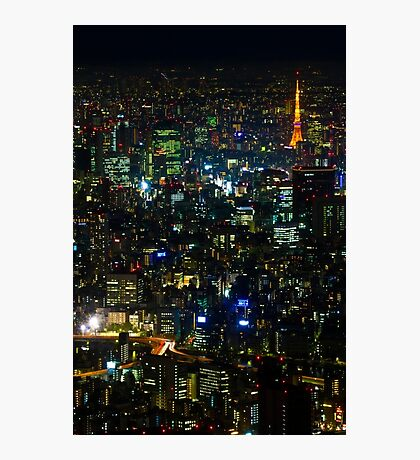 Tokyo Tower from Tokyo Skytree Photographic Print