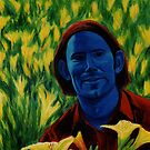 Ben in his Garden by Tony Sturtevant