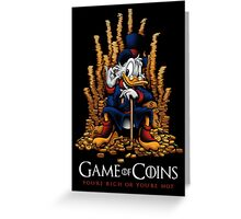 Game of Coins Greeting Card
