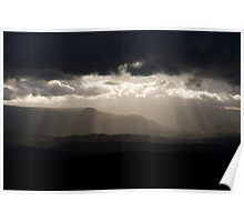 Sunrays over Megalong Valley - Blue Mountains National Park Poster