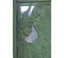 Pere Lachaise, Paris - family crypt detail Photographic Print