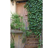 Ramatuelle, Provence, France, another pretty doorway Photographic Print