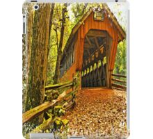 Covered Bridge,Little Hope Wisconsin #2 iPad Case/Skin