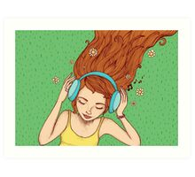 Summer, music and relax Art Print