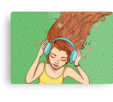 Summer, music and relax Metal Print