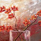 The Orange Orchids by Abstract D'Oyley