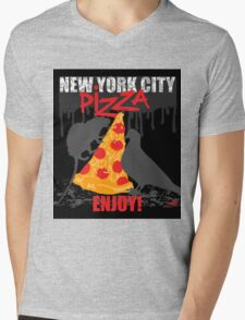 NYC PIZZA - ENJOY! Mens V-Neck T-Shirt