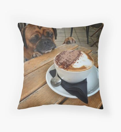 Is that My Puppaccino? Throw Pillow