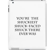 The Shuckiest Shuck-Faced Shuck (White) iPad Case/Skin