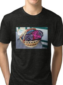 Basket of Knitted Things Tri-blend T-Shirt