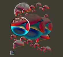 """Poincaré Disc Model Hyperbolic Plane - RED""© Unisex T-Shirt"