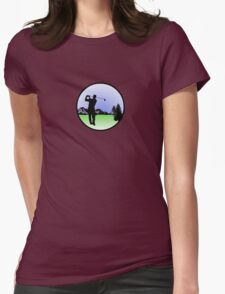 golfer Womens Fitted T-Shirt