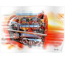Chromed to death hot rod Poster