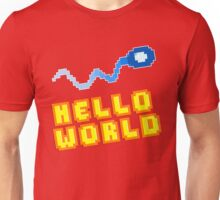 8Bit Nerd Hello Pixel World Unisex T-Shirt