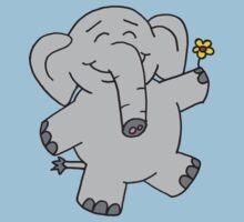 Flower Elephant Baby Tee