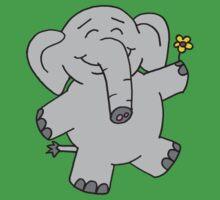 Flower Elephant Kids Tee