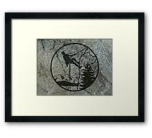 rockclimbing Framed Print