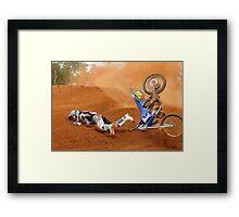 Moto x rider eating dirt Framed Print