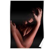 Young Brunette in Dark Portrait Poster