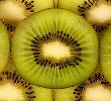 Macro Shot of Kiwi Slices by Tom Prokop
