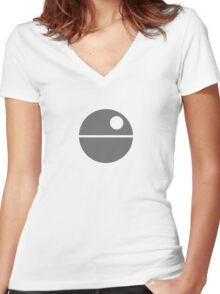 Star Wars - Death Star Women's Fitted V-Neck T-Shirt