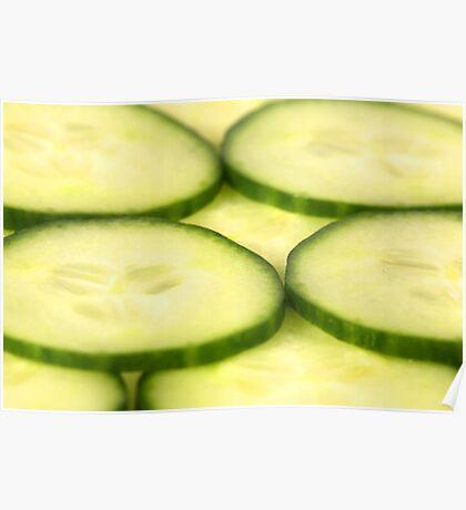 Closeup Shot of Cucumber Slices Poster