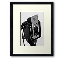 another toy - getting rained on Framed Print