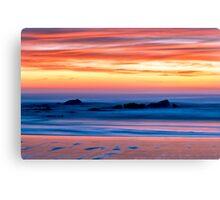 Ocean Shores Sunset Canvas Print