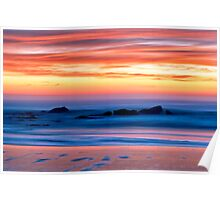 Ocean Shores Sunset Poster