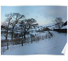 New Radnor snow scene Poster