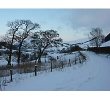 New Radnor snow scene Photographic Print