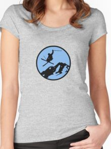 skiing 3 Women's Fitted Scoop T-Shirt