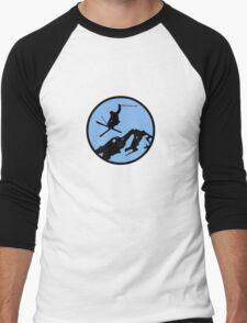 skiing 3 Men's Baseball ¾ T-Shirt