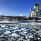 River Ice by Mikhail Kovalev