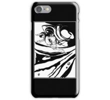 Misshaku Kongō: Buddhist Temple Guardian (Black & White) iPhone Case/Skin