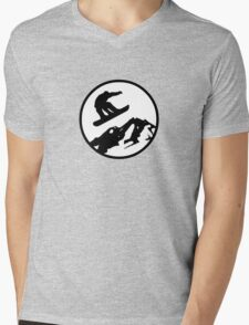snowboarding 2 Mens V-Neck T-Shirt