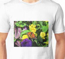 Butterfly on Flowers Unisex T-Shirt