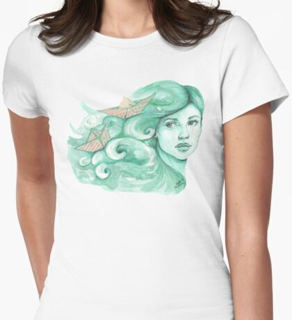 Paper ships Womens Fitted T-Shirt