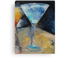 Blue Art Martini Canvas Print